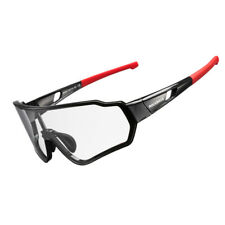 ROCKBROS Photochrom Radbrille Fahrradbrille UV400 Vollformatbrille Schwarz Rot