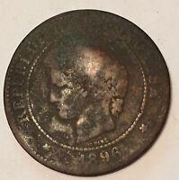 5 Centimes Cérès Bronze 1896A N1