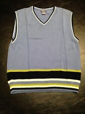 The Children's Place L (10/12) Blue Boys' V-Neck Cotton Blend Sleeveless Sweater