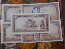 Lebanon LIBAN  - 10 livres 1986 unc currency note -  UNC & MINT