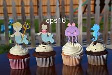 12 x Under the Sea Picks   Ocean Life   Mermaid Party Cake   Cupcake Decorations