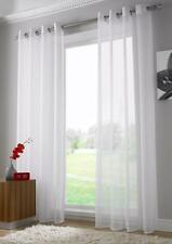 Pair of Sheer Curtain Voile Window Curtains Eyelet White Color 2 Pcs 2*145cm 225cm