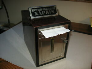 Vintage 1940s Paper Napkin Dispenser For Restaurant Malt Shop Drive-In Snack Bar