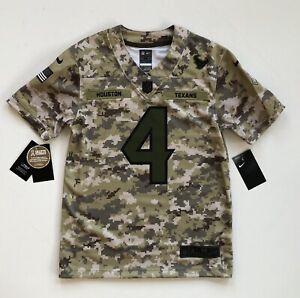 Youth Medium Deshaun Watson Houston Texans Salute To Service Nike Camo Jersey