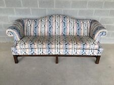 """Hickory Chair Company 84"""" Chippendale Style Camel Back Sofa"""