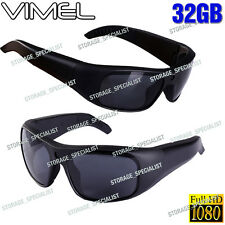SunGlasses Camera 32GB Ski Sport Waterproof 1080P Glasses Bike Action no Spy