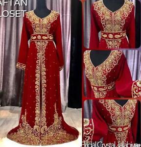 Dubai Royal Islamic Kaftan Moroccan Caftan Arabic Elegant Party wear Beach Dress