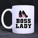 11oz Ceramic Mug With Boss Lady & Shoe Design