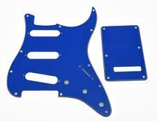 ST Strat SSS Pickguard, Trem Tremolo Cover w/ Screws Pure Blue 3 Ply For Fender