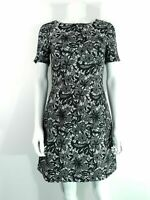 Oasis Dress sz 8 Black Lace Overlay Fit & Flare Party Dress