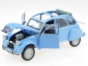 Citroen 2CV 2 CV 4 Ente 1976 blau Modellauto Leo 1:24