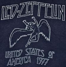 Vintage 1977 LED ZEPPELIN United States of America Rock Concert Tour T SHIRT XS