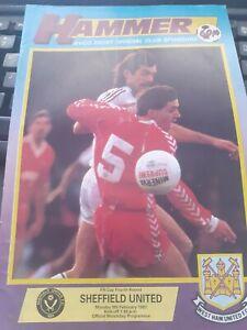 West Ham United v Sheffield United, 1986-87, FA Cup
