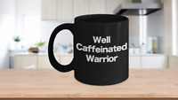 Warrior Mug Black Coffee Cup Funny Gift Pennsic Yoga Princess Cancer Basketball