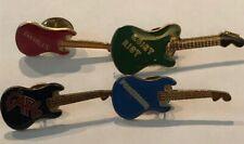 Halen Quiet Riot The Cars Foreigner 4 Vintage Rock'N'Roll Guitar Pins Van