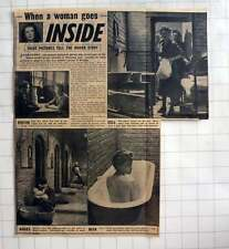 1954 Pictures Inside Holloway Jail For Women, Joan Henry