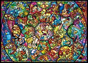 Tenyo Disney All Characters Stained Glass Jigsaw Puzzle 2000Pcs F/S Japan Import