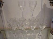 10 verres à eau 19cl cristal Saint Louis Chantilly crystal water glasses b13