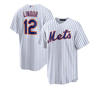 Francisco Lindor New York Mets Player Jersey – White Navy Fanmade XS-4XL