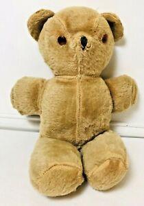 "Vintage 40-50's Tan Cream Teddy Bear Swivel Head 18"" Tall Well loved"