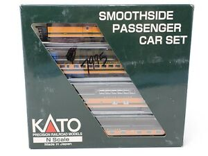 KATO #106-1103 Smoothside Pass Set B GN 1 (Baggage,Coach,Dome,Pullman) NEW