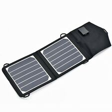 Portable Lightweight Solar Panel 6W/12V Textile Frame & USB for camping or boats