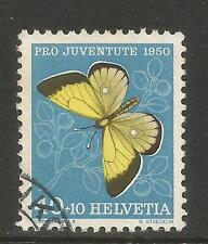 Switzerland 1950 40+10 Pro Juventute--Attractive Insect Topical (B200) fine used