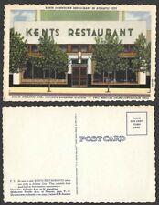 Old New Jersey Postcard - Atlantic City - Kent's Downtown Restaurant