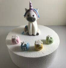 Handmade Edible Fondant Unicorn Model PLUS NAME cake Toppers Girls  Birthday