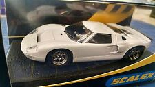 """Scalextric C2472T Ford GT40 """"Plain White"""" 1/32 Slot Car Mid America"""
