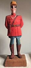 Royal Canadian Mounted Police Officer 9 1/2 Wood Figure Statue Statuette Carving