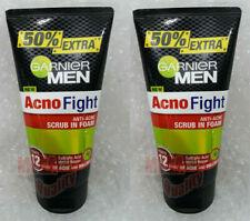 2 x 150g Garnier Men Acno Fight Foam Gentle Scrub Face Wash Anti Acne Cleansing