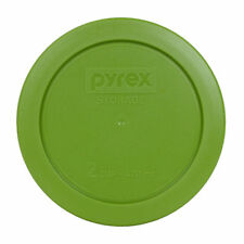 "Pyrex 7200-PC 2 Cup 5"" Plastic Storage Lid Cover Lawn Green for Glass Bowl"