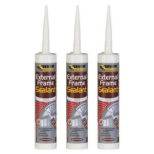 3 x Everbuild External & Internal Acrylic Frame Sealant 290ml - All Colours