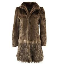 A Cappella Coat in Chocolate by Unreal Fur Faux Large NWT