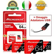 Micro SD Classe 10 16gb 32gb 64gb 128gb Memory Card TF + OMAGGIO ADATTATTORE USB