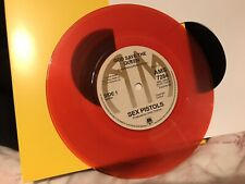 """Sex Pistols - God Save The Queen 7"""" Red Vinyl Single 1977 Reissue/Reproduction"""