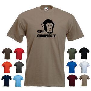 '98% Chimpanzee'. Men's Funny Darwin DNA Evolution Geek T-shirt Tee