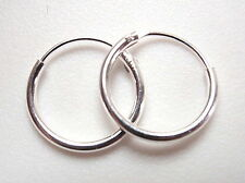 12mm Hoop 925 Sterling Silver Earrings Corona Sun Jewelry Imported from Thailand