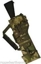 Deluxe MOLLE Shoulder Sling Tactical Rifle Scabbard Case Woodland Camo BDU