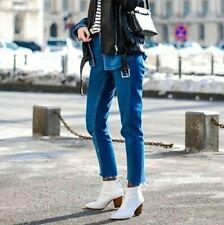 Zara White Leather Ankle Boots Size Uk5/Eu38 BNWT