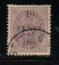 Danish West Indies Sc 15 1895 10c overprint on 50 c stamp used Free Shipping