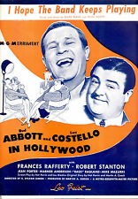 "ABBOTT & COSTELLO IN HOLLYWOOD ""I Hope The Band Keeps Playing"" Hirschfeld Art"