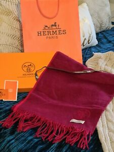 Luxurious Hermès Cashmere/Silk Scarf -Unisex Brand New in Box