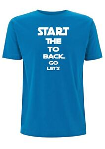 Let's go back to the start T Shirt The Scientist Coldplay Jogging Quote Lyric
