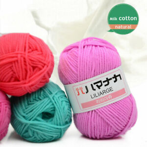 42colors Soft Bamboo Knitting wool Crochet 4 Ply Baby Milk Cotton Fiber Yarn
