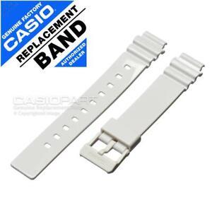 Genuine Casio Watch Band f/ Womens LRW-200H LRW200H-1EV Gloss White Rubber Strap