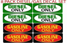 Diesel Fuel Only Gas Fuel Only Sticker Decal Set Gasoline Diesel Label for Truck