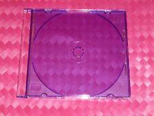 Slim-Line CD/DVD Jewel Case Box PURPLE 5.2 mm  8-pack Nice New