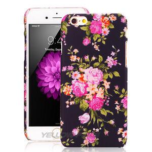 iPhone 6 Plus Case Vintage Floral, [3D Flower Pattern] Thin Fit Matte Back Girls